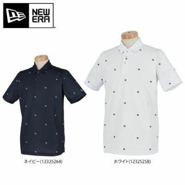 ニューエラ NEW ERA メンズ ニューヨーク・ヤンキース ロゴ飛び柄 鹿の子 半袖 ポロシャツ 2020年モデル