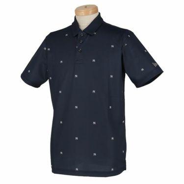 ニューエラ NEW ERA メンズ ニューヨーク・ヤンキース ロゴ飛び柄 鹿の子 半袖 ポロシャツ 2020年モデル 商品詳細2