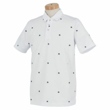 ニューエラ NEW ERA メンズ ニューヨーク・ヤンキース ロゴ飛び柄 鹿の子 半袖 ポロシャツ 2020年モデル 商品詳細3
