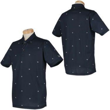 ニューエラ NEW ERA メンズ ニューヨーク・ヤンキース ロゴ飛び柄 鹿の子 半袖 ポロシャツ 2020年モデル 商品詳細5