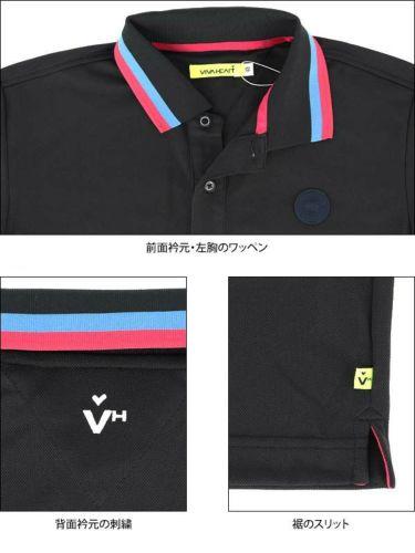 ビバハート VIVA HEART メンズ 鹿の子 ライン使い シリコンワッペン 半袖 ポロシャツ 011-22340 2020年モデル 商品詳細6
