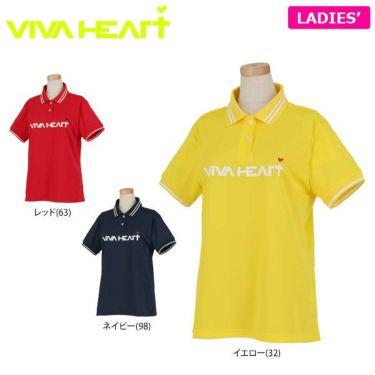 ビバハート VIVA HEART レディース 鹿の子 ロゴプリント ライン使い 半袖 ポロシャツ 012-22340 2020年モデル
