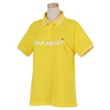 ビバハート VIVA HEART レディース 鹿の子 ロゴプリント ライン使い 半袖 ポロシャツ 012-22340 2020年モデル 商品詳細2