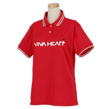 ビバハート VIVA HEART レディース 鹿の子 ロゴプリント ライン使い 半袖 ポロシャツ 012-22340 2020年モデル 商品詳細3