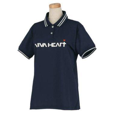 ビバハート VIVA HEART レディース 鹿の子 ロゴプリント ライン使い 半袖 ポロシャツ 012-22340 2020年モデル 商品詳細4