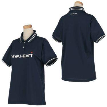 ビバハート VIVA HEART レディース 鹿の子 ロゴプリント ライン使い 半袖 ポロシャツ 012-22340 2020年モデル 商品詳細6