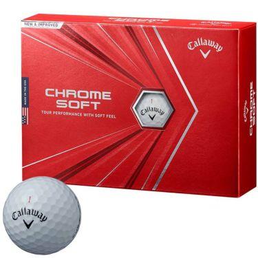 キャロウェイ クロム ソフト ゴルフボール 2020年モデル 1ダース(12球入り) ホワイト