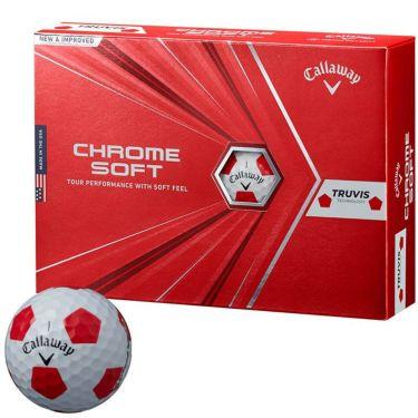 キャロウェイ クロム ソフト トゥルービス ゴルフボール 2020年モデル 1ダース(12球入り) ホワイト/レッド