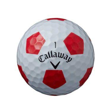 キャロウェイ クロム ソフト トゥルービス ゴルフボール 2020年モデル 1ダース(12球入り) ホワイト/レッド 商品詳細2