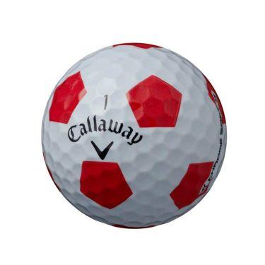 キャロウェイ クロム ソフト トゥルービス ゴルフボール 2020年モデル 1ダース(12球入り) ホワイト/レッド 商品詳細3