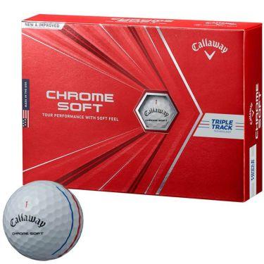 キャロウェイ クロム ソフト トリプルトラック ゴルフボール 2020年モデル 1ダース(12球入り) ホワイト
