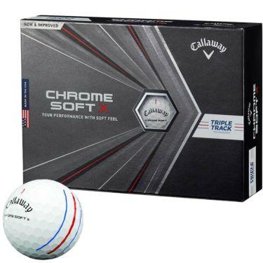 キャロウェイ クロム ソフトX トリプルトラック ゴルフボール 2020年モデル 1ダース(12球入り) ホワイト