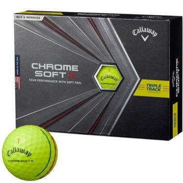 キャロウェイ クロム ソフトX トリプルトラック ゴルフボール 2020年モデル 1ダース(12球入り) イエロー