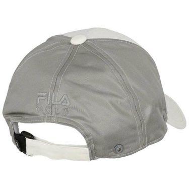 フィラ FILA メンズ ロゴ刺繍 日除け布付き メッシュ キャップ 740-911 WT ホワイト 2020年モデル 商品詳細2