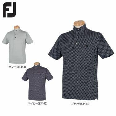 フットジョイ FootJoy メンズ ロゴ刺繍 総柄プリント 半袖 ホリゾンタルカラー ポロシャツ FJ-S20-S05 2020年モデル