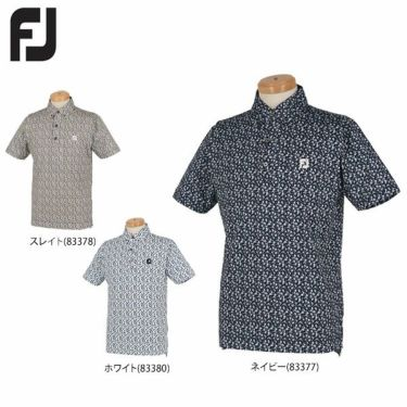 【ss特価】△フットジョイ FootJoy メンズ 総柄 フラワープリント 半袖 ボタンダウン ポロシャツ FJ-S20-S06 2020年モデル 詳細2