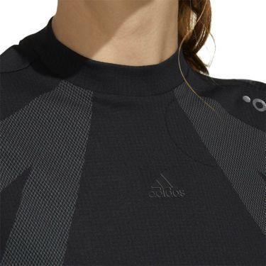 アディダス adidas レディース インナーパンツ付き 半袖 モックネック ワンピース GKI48 2020年モデル ブラック(FJ3850) 詳細3
