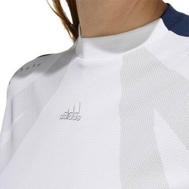 アディダス adidas レディース インナーパンツ付き 半袖 モックネック ワンピース GKI48 2020年モデル ホワイト(FJ3851) 詳細4