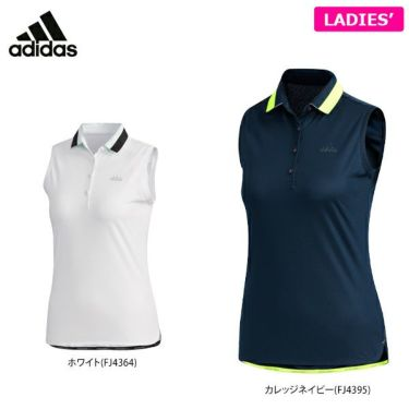 アディダス adidas レディース メッシュ切替 ノースリーブ ポロシャツ GLD46 2020年モデル 詳細1