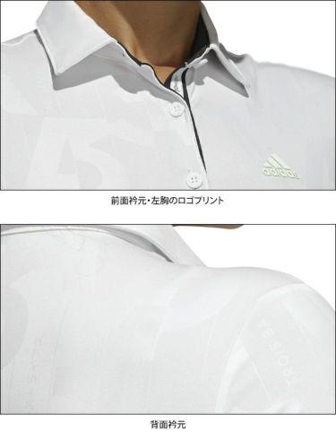 【ss特価】△アディダス adidas レディース エンボスプリント 総柄 半袖 ポロシャツ HAD74 2020年モデル 詳細4