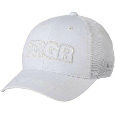 PRGR プロギア メンズ ハーフメッシュキャップ PMCAP-104 W ホワイト 2020年モデル