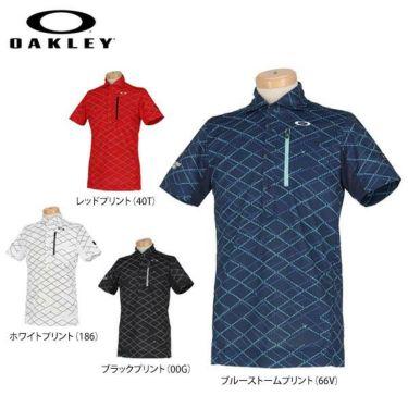 オークリー OAKLEY メンズ SKULL 総柄プリント グリッドパターン 半袖 ポロシャツ FOA400796 2020年モデル