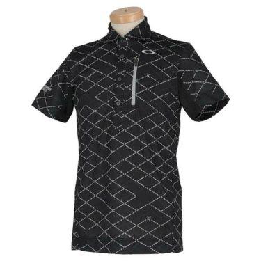 オークリー OAKLEY メンズ SKULL 総柄プリント グリッドパターン 半袖 ポロシャツ FOA400796 2020年モデル 商品詳細2