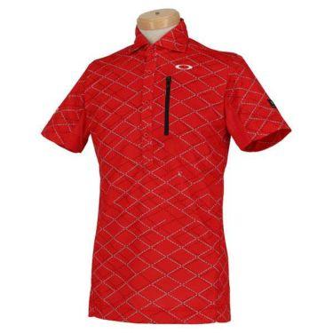 オークリー OAKLEY メンズ SKULL 総柄プリント グリッドパターン 半袖 ポロシャツ FOA400796 2020年モデル 商品詳細4