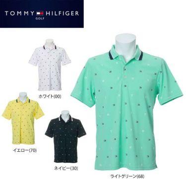 トミー ヒルフィガー ゴルフ メンズ 飛び柄プリント 半袖 ポロシャツ THMA022 2020年モデル