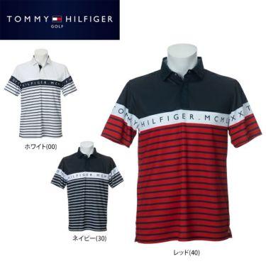 トミー ヒルフィガー ゴルフ メンズ ラインロゴ ボーダー柄 半袖 ポロシャツ THMA023 2020年モデル