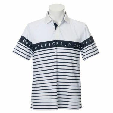 トミー ヒルフィガー ゴルフ メンズ ラインロゴ ボーダー柄 半袖 ポロシャツ THMA023 2020年モデル 商品詳細2