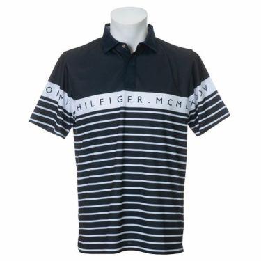 トミー ヒルフィガー ゴルフ メンズ ラインロゴ ボーダー柄 半袖 ポロシャツ THMA023 2020年モデル 商品詳細3