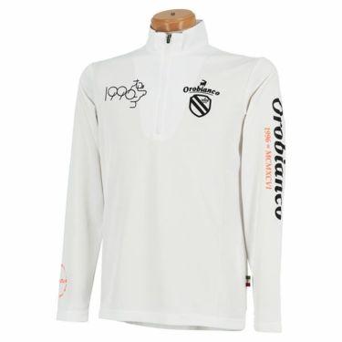オロビアンコ Orobianco メンズ ロゴプリント 長袖 ハーフジップシャツ 45470-106 2020年モデル ホワイト(01)