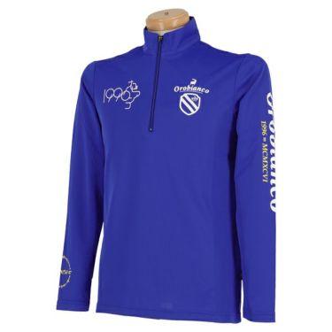 オロビアンコ Orobianco メンズ ロゴプリント 長袖 ハーフジップシャツ 45470-106 2020年モデル ブルー(58)