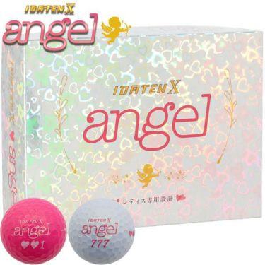 レディース IDATEN X angel 韋駄天X エンジェル 2020年モデル 女性用超高反発 ゴルフボール 1ダース(12球入り) [ルール不適合] サムネイル