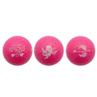 レディース IDATEN X angel 韋駄天X エンジェル 2020年モデル 女性用超高反発 ゴルフボール 1ダース(12球入り) [ルール不適合] パールピンク ボールナンバー0