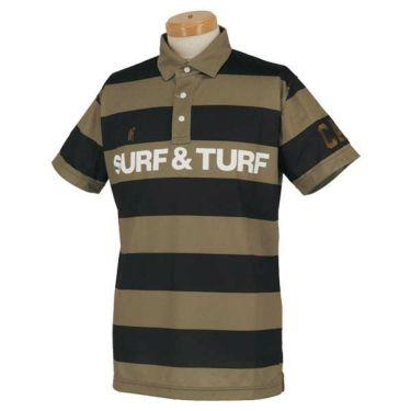 サーフ&ターフ SURF&TURF メンズ ボーダー柄 ラインロゴ 半袖 ポロシャツ 0SS-SBS6 2020年モデル 商品詳細2