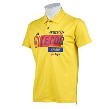 【ss特価】△ルコック Le coq sportif メンズ 鹿の子 ロゴプリント 半袖 ポロシャツ QGMPJA11 2020年モデル イエロー(YL00)