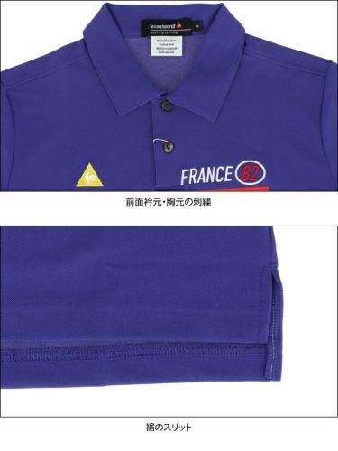 【ss特価】△ルコック Le coq sportif メンズ 鹿の子 ロゴプリント 半袖 ポロシャツ QGMPJA11 2020年モデル 詳細4
