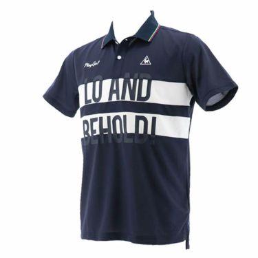 ルコック Le coq sportif メンズ ワッフル生地 カラーブロック 半袖 ポロシャツ QGMPJA02 2020年モデル ネイビー(NV00)