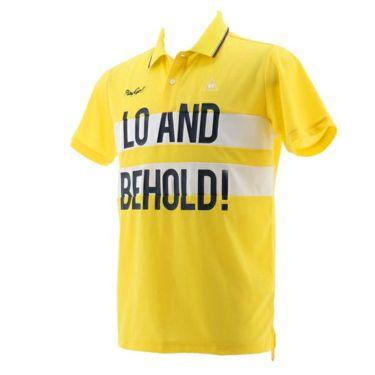 【ss特価】△ルコック Le coq sportif メンズ ワッフル生地 カラーブロック 半袖 ポロシャツ QGMPJA02 2020年モデル イエロー(YL00)