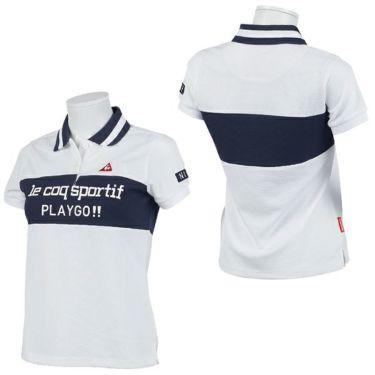 ルコック Le coq sportif レディース 鹿の子 ロゴプリント 配色切替 半袖 ポロシャツ QGWPJA03 2020年モデル 詳細3