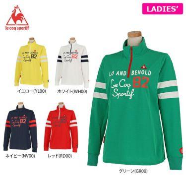 ルコック Le coq sportif レディース プリントデザイン 袖ライン 長袖 ハーフジップシャツ QGWPJB02 2020年モデル 詳細1