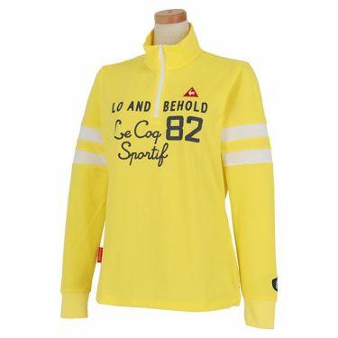 ルコック Le coq sportif レディース プリントデザイン 袖ライン 長袖 ハーフジップシャツ QGWPJB02 2020年モデル イエロー(YL00)