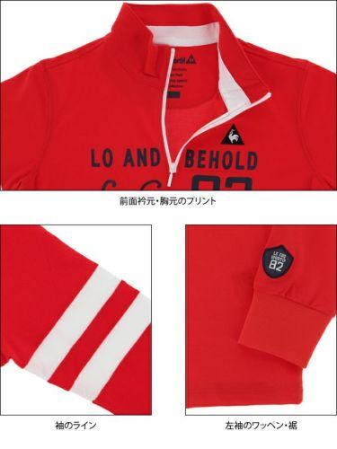 ルコック Le coq sportif レディース プリントデザイン 袖ライン 長袖 ハーフジップシャツ QGWPJB02 2020年モデル 商品詳細9