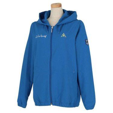 【ss特価】△ルコック Le coq sportif レディース 撥水 サッカーストライプ 長袖 フルジップ パーカー QGWPJK01 2020年モデル ブルー(BL00)