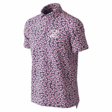 カッター&バック CUTTER&BUCK メンズ 花柄プリント 半袖 ホリゾンタルカラー ポロシャツ CGMPJA24 2020年モデル ネイビー(NV00)