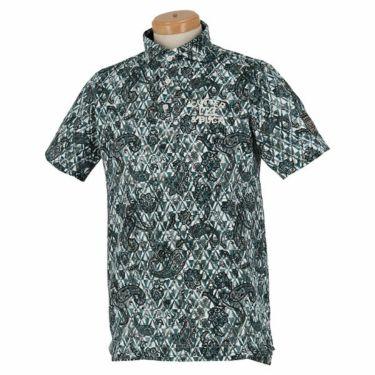 カッター&バック CUTTER&BUCK メンズ 鹿の子 ペイズリー柄 半袖 ホリゾンタルカラー ポロシャツ CGMPJA28 2020年モデル ブラック(BK00)