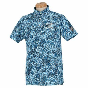 カッター&バック CUTTER&BUCK メンズ 鹿の子 ペイズリー柄 半袖 ホリゾンタルカラー ポロシャツ CGMPJA28 2020年モデル ブルー(BL00)