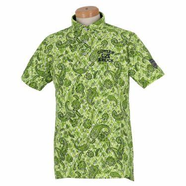カッター&バック CUTTER&BUCK メンズ 鹿の子 ペイズリー柄 半袖 ホリゾンタルカラー ポロシャツ CGMPJA28 2020年モデル グリーン(GR00)
